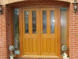 painted double front door. Modern Painted Double Front Door With Light Oak Of Property, Plus Colour Work In Arch French 5 W
