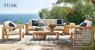 chic teak furniture. exellent chic elegant teak outdoor chairs furniture williams sonoma  on chic c