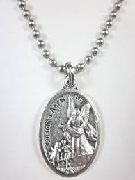 pray for us medal pendant necklace 24