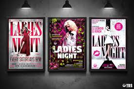 club flyer templates ladies night flyer bundle v3 thats design store