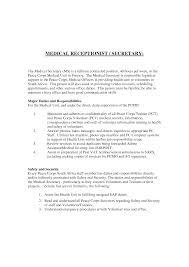 Cover Letter For Medical Receptionist Letter Idea 2018