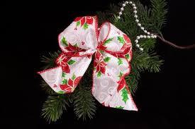 Christbaumschmuck Dekoschleife Weiß Rotgrün Dekoration Für Ihren Weihnachtsbaum