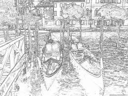 Disegni Da Colorare Per Ragazzi Con Gondole A Venezia Disegni Da