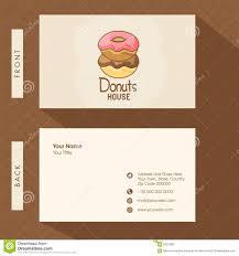 Business Card For Donuts Shop Stock Illustration Illustration Of