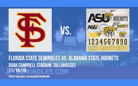 Florida State Seminoles Vs Alabama State Hornets Tickets