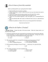 Properties Of Atoms And The Periodic Table Worksheet Answers And ...