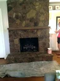 faux rock fireplace m rock stone faux rock fireplace makeover delightful design painting a stone i