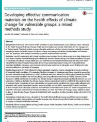 Journal Article Climate Change And Health Journal Articles Climate Change Research