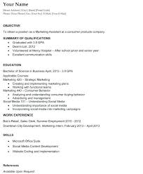 Job Objective For Resume Examples Job Objectives Example Resume