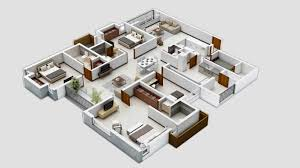 Three Bedroom HouseApartment Floor Plans - Small apartment floor plans 3d