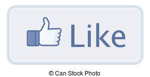 Like Us On Facebook Vector Button Like Facebook The Most Popular Social Network In The World