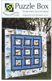Brookshier Design Studio Amazon Com Puzzle Box Quilt Pattern Pieced From Yardage