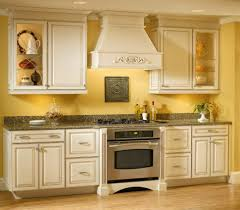 Small Kitchen Color Vibrant Yellow Kitchen Color Idea For Small Interior With