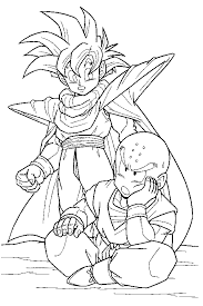 Goten as a child this space warrior has strong muscles and keeps training hard to become stronger than his rival goku. Dragon Ball Z 2 Coloring Page