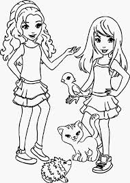 Small Picture Lego Friends For Girls Coloring Page Free Download