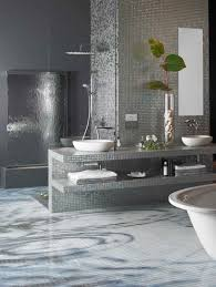 alluring bathroom ceramic tile ideas. Alluring Decorations With White Glass Tile Bathroom : Enchanting Design Ideas Using Round Sinks And Ceramic E