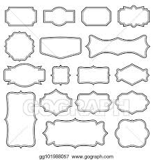 Labels With Border Eps Vector Creative Vector Illustration Set Of Decorative
