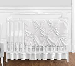 solid color white shabby chic harper baby girl crib bedding set without per by sweet jojo designs 4 pieces only 139 99