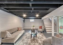 Unfinished Basement Design Property Awesome Design Ideas