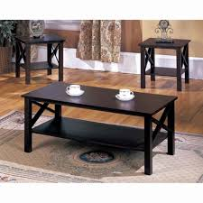 cofee table 3 pc coffee and end tables beautiful awesome dark wood coffee table set