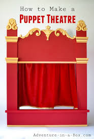 staging a play in a puppet theatre is a great family activity for kids and s