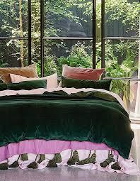 kip co kombu green velvet duvet cover single collected by in decor 4