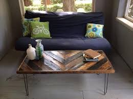 chevron pallet coffee table with