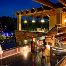 covered patio lights. Outdoor Kitchen With Nice Patio Hanging Lights Covered R