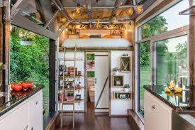 Small Picture Inside a Tiny House With a Pop Out Deck Alpha Tiny Home by New