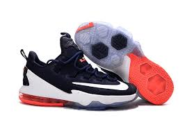 lebron james shoes white and red. cheap nike lebron james 13 low red white orange shoes and