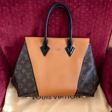 louis vuitton w bb brown monogram leather tote bag reduced