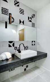 exquisite modern concrete tiles bathroom features grey and black cement tile and concrete tile floor with black faucet paired concrete floor