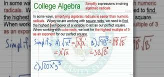 how to simplify expressions involving algebraic radicals math wonderhowto