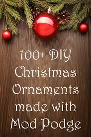 If you're looking for some easy ideas for DIY Christmas ornaments, here are