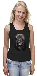 <b>Майка классическая Собака</b> с пенсне #719972 от printik по цене ...