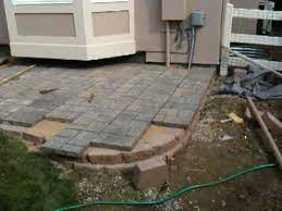 how to install a paver patio installing
