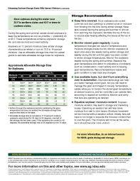 Soybean Moisture Chart