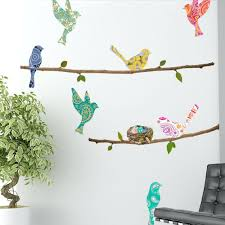 bird cage wall decal paisley birds and branches wall decals bird branch wall  decals paisley birds