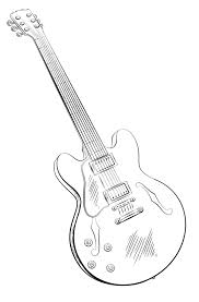 Small Picture Guitar coloring pages printable free ColoringStar