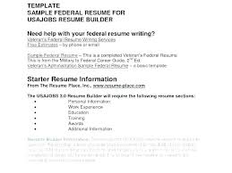 Federal Resume Example Federal Resume Templates Examples Of Federal