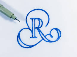Letters For Tattoos Template Adorable The Letter R This Is So Beautiful HandDrawn Typography