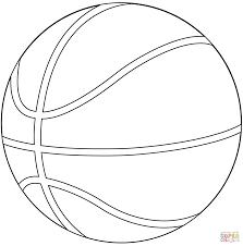 Coloriage Ballon De Basket Ball Coloriages Imprimer Gratuits