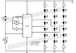 christmas led lights circuit christmas led decoration circuit schematic