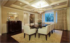 Interior:European Interior With Fancy Coffered Ceiling Design Also Black  Wood Floor European Interior With