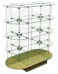 In Store Display Stands Glass Oval Display Unit Glass Display Stand Store Display Glass 77
