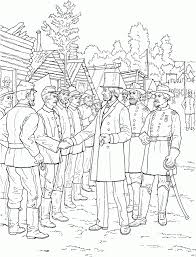Small Picture President Abraham Lincoln Greeting Soldiers Civil War Coloring