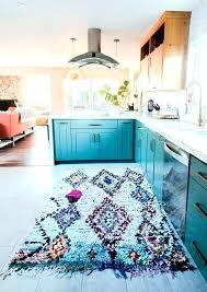 green kitchen rug rugs blue and elegant bohemian home decor a hunter green kitchen rug