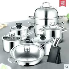 glass top stove cookware sets cookware set nonstick pan stainless steel home frying soup pot tools
