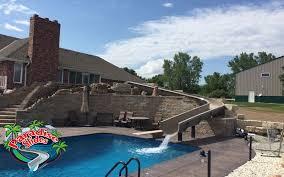 home pools with waterslides.  Pools Custom Water Slide Model PS48RC To Home Pools With Waterslides 0