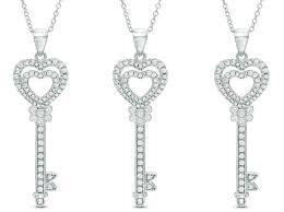 zales key necklace hot 1999 reg 99 zales heart key necklace free